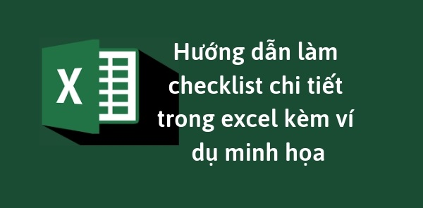 Lam Checklist Trong Excel 4
